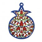 Emanuel Laser Cut Hand Painted Pomegranates  PMM1