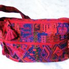 Sunny Druze Pattern Red Orange 4 Pockets Shoulder Handbag