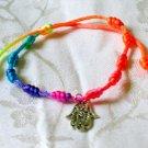 Hamsa Pendant Rainbow String Bracelet Amulet Kabbalah