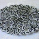 Trivet Aluminum Silver Oriental Floral MHP-9