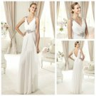 No Train Ivory Chiffon Sleeveless Backless Wedding Dress