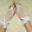 Fingerless Wedding Bridal Gloves Wrist Length