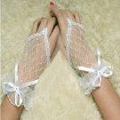 Fingerless Wedding Bridal Gloves Wrist Length