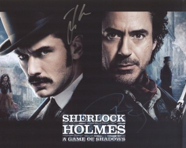 "Robert Downey Jr. / Jude Law ""Sherlock Holmes"" Autographed Original Hand Signed 8X10 Photo"