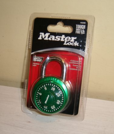 MASTER Combination LOCK Padlock Rotary Dial GREEN  1529DTGT