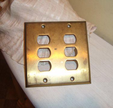 Brass Outlet Cover Plate Telecommunications