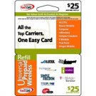 Universal Wireless  Prepaid Card $25.00