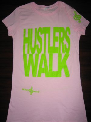 Hustlers Walk, Money  & Music T-shirts
