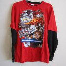 Star Wars Clone Wars Long Sleeve Red Black NWOT New Boys 100% Cotton Size XL