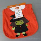Halloween Witch Baby Teething Bib Just One You Carter's One Size Orange New