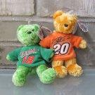 Team Speed Bears Authentic Tony Stewart #20 Bobby  Labonte #18 NASCAR NWT NEW