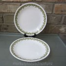 "Corelle Corning 2 CRAZY DAISY 8-1/2"" Luncheon Salad Plates Spring Blossom Green"