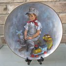 """Reco Limited Edition Plate """"When I Grow Up"""" by John McClelland Trains FREE Ship"""