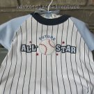Blue One Piece Baseball Layette Future All Star Blanket Gift Hanger FREE Ship