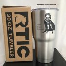 RTIC 30 oz Tumbler w/Lid Stainless Steel LASER ETCH Super Duper Deplorable Hero