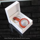 Leather Key Ring American Eagle Half Dollar Plated Concho Gift Box Fathers Day