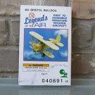 Legends of the Air #403 Bristol Bulldog Wooden Aircraft Model Kit Sealed Box