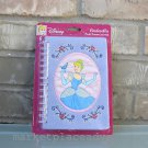 Disney Princess Cinderella Plush Dream Spiral Journal 80 Pages NIP FREE Shipping