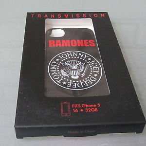 Ramones Punk Band TOMMY JOHNNY JOEY DEEDEE Black iPhone 5 Snap On Style Case NEW