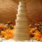 Set of Seven Paper Mache Oval Stacking Boxes