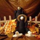 Cute Stuffed Muslin Crows