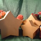 Set of Three Paper Mache Star Stacking Boxes