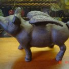 Cast Iron Flying Pig Door Stop