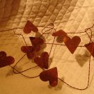 Primitive Rusty Heart Garland