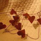 Primitive Rusty Heart Garland
