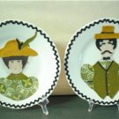 Vintage Folkart Decorated Plates