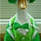 St Patricks Day Goose Irish Lad Outfit -Lawn Goose