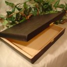 Black Rectangle Cigar Box Purse/Jewel Box~Free Mirror