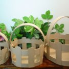 LARGE PAPER MACHE OVAL BASKETS~READY TO PAINT