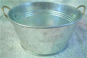 GALVANIZED 6 INCH TUB~METALWARE