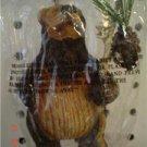 Primitive Bear Lodge Ornament - Staff with Pine Cone