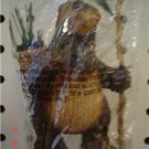Primitive Bear Lodge Ornament -  Basket & Staff with Pine Cone