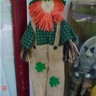 Irish Fall Front Door Scarecrow for Decorating