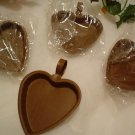 (4) Heart shaped Primitive Rustic  Candle Pans