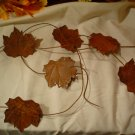 Rusty Leaf Primitive Garland