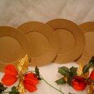 PAPER MACHE SIX ROUND PLATES