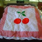 Cute Country Cherry Kitchen Seat Cover Set