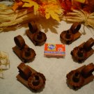 Rusty Matchbox Candle Holders-Primitive