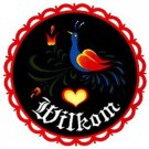 Bird of Paradise Welcome Hex Sign - 8 Inch