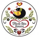 Haus-Segen  Hex Sign - Bless this House - 8 Inch