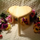 Heart Shaped Solid Wooden Stool