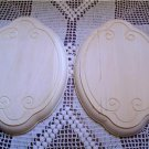 FANCY OVAL PLAQUES WITH SCROLLED DESIGN