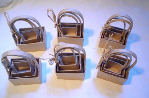 PAPER MACHE MINI BASKETS 18 RECTANGLE SHAPED