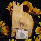 Primitive Wood Puzzle Like Cat Plaques~Ready to Paint