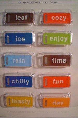 Seasons Word Plates - Elements #1