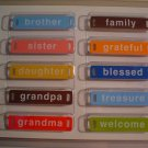 Family  Word Plates - Elements